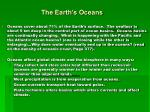 the earth s oceans