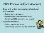 ipcc process author s viewpoint17