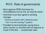 ipcc role of governments