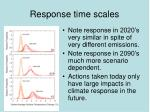 response time scales