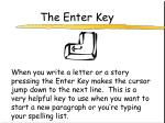 the enter key
