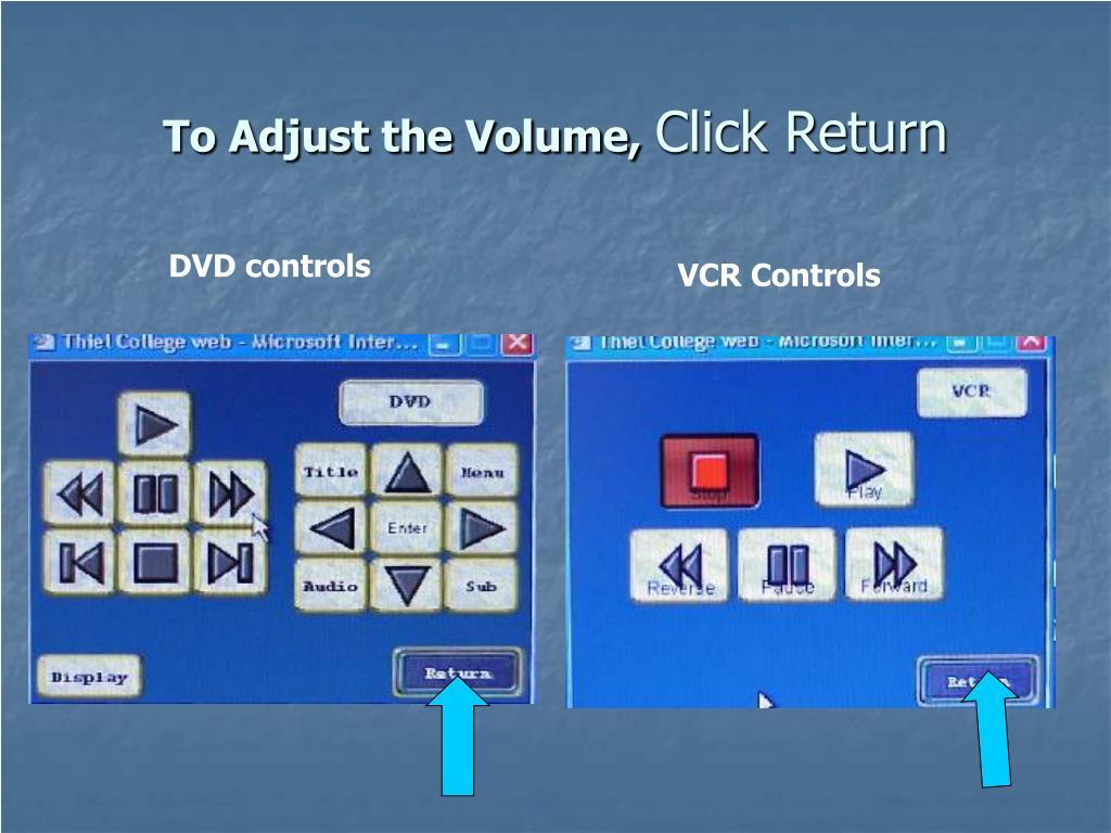 To Adjust the Volume,