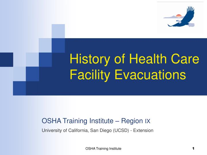 history of health care facility evacuations n.