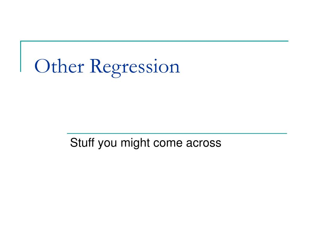 other regression l.