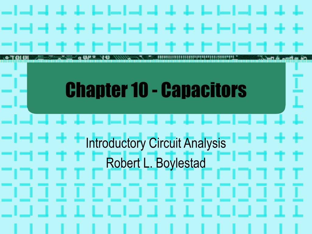 chapter 10 capacitors