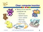 clear computer monitor