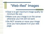 web ified images