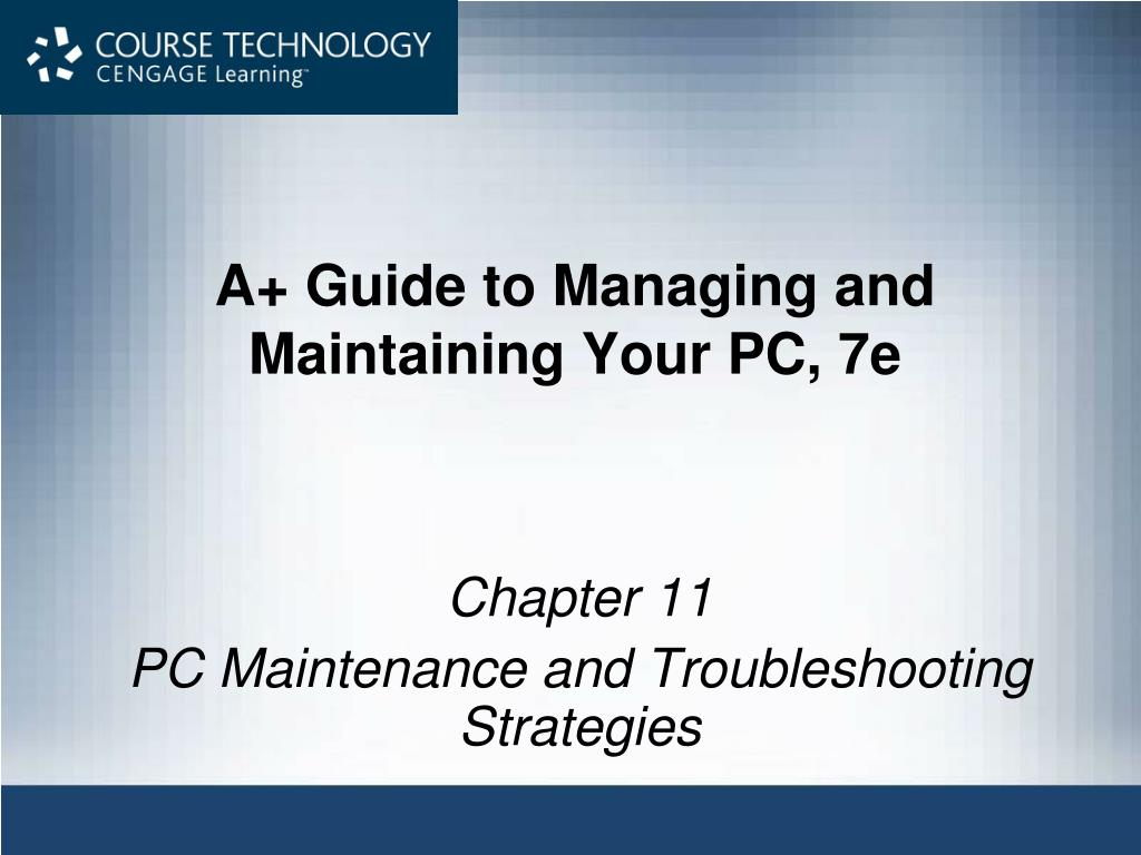 a guide to managing and maintaining your pc 7e l.