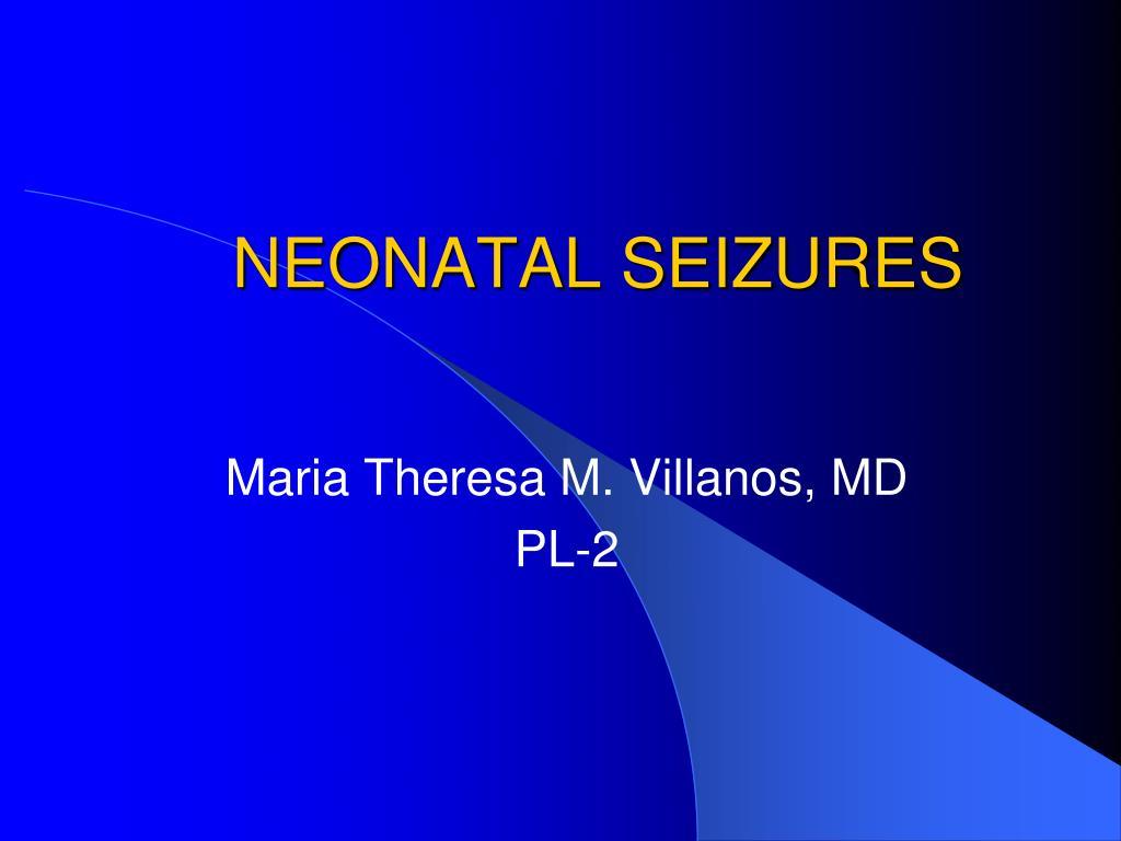 neonatal seizures l.