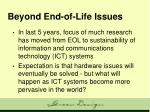 beyond end of life issues