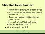 cmu dell event context