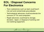 eol disposal concerns for electronics