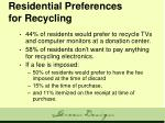 residential preferences for recycling