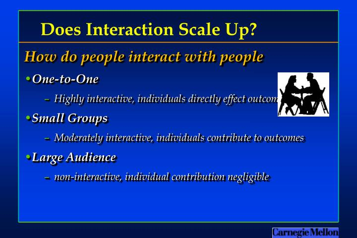 Does interaction scale up