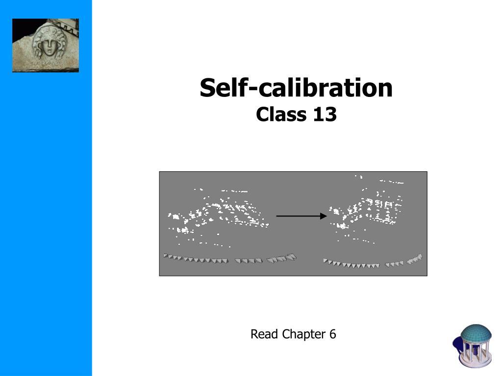 self calibration class 13 l.