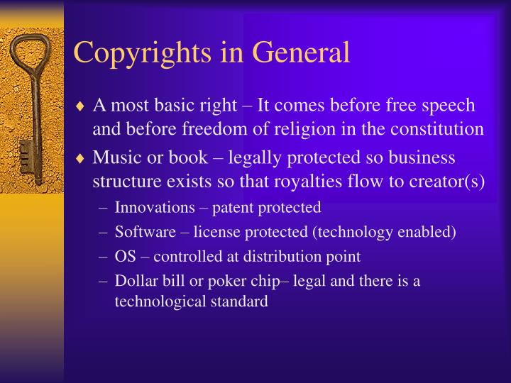 Copyrights in General
