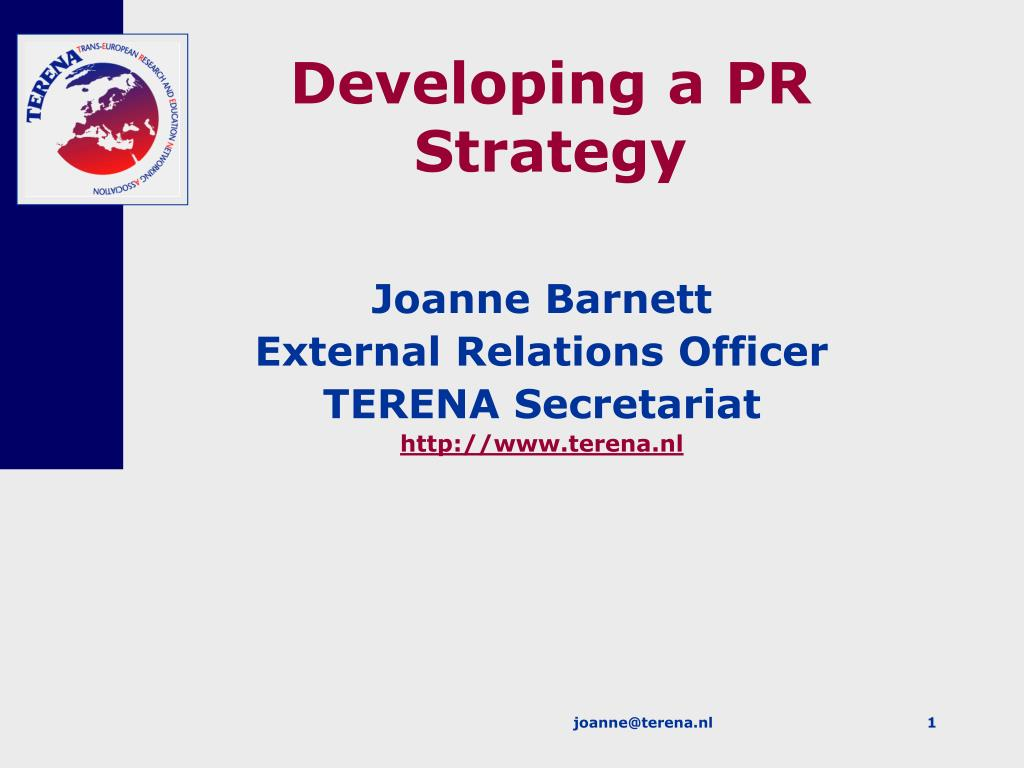 developing a pr strategy l.