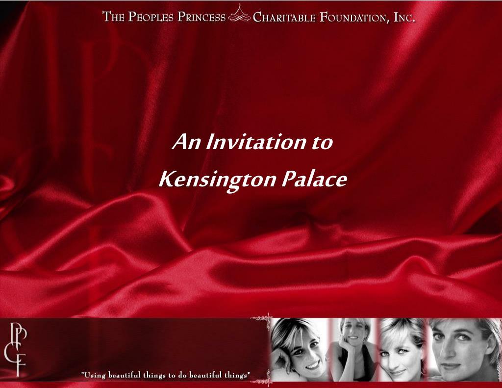 an invitation to kensington palace l.