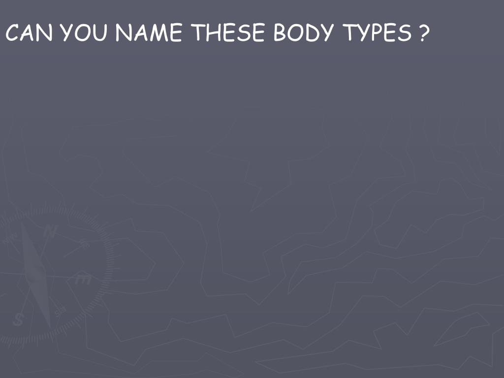 CAN YOU NAME THESE BODY TYPES ?