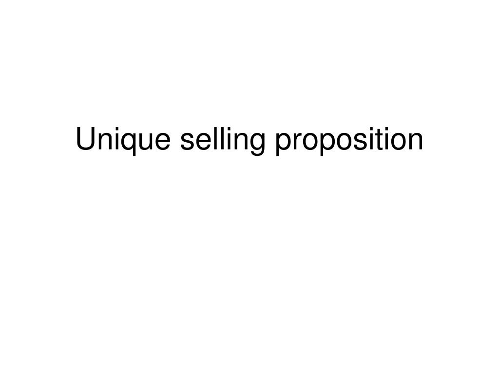 unique selling proposition l.
