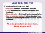 less pain fear free