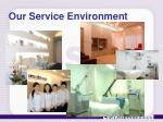 our service environment