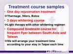 treatment course samples