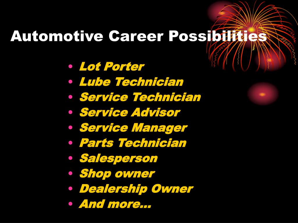 Automotive Career Possibilities