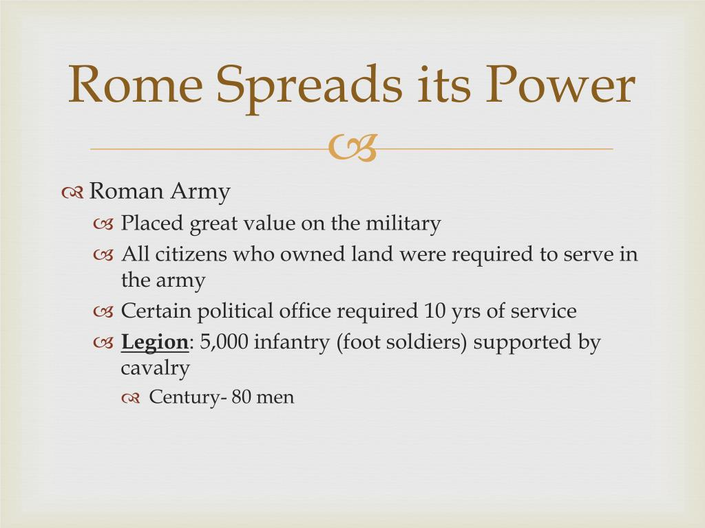 Rome Spreads its