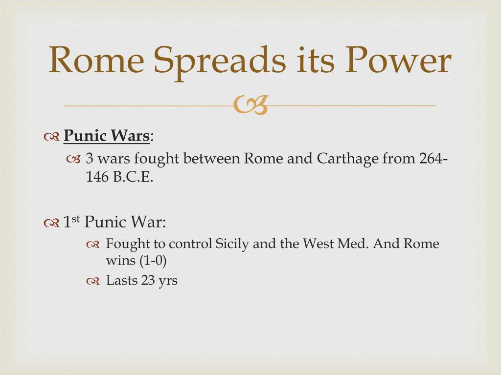 Rome Spreads its Power