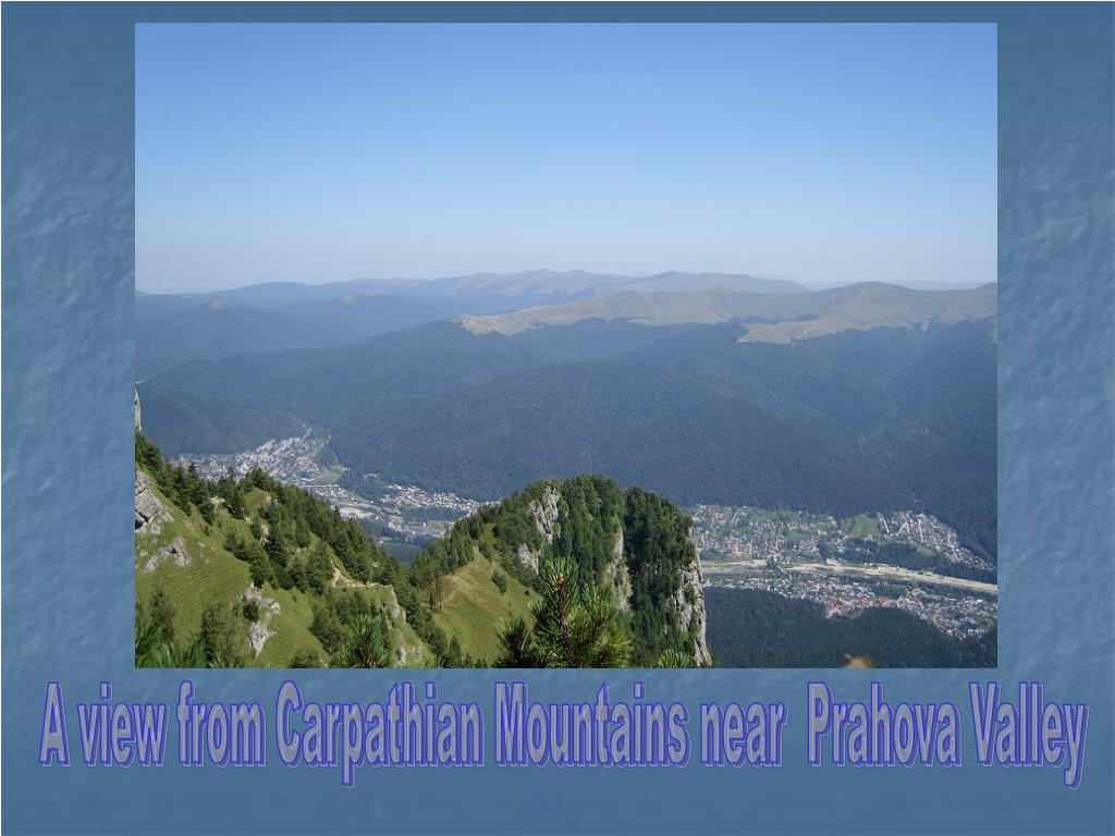 A view from Carpathian Mountains near  Prahova Valley