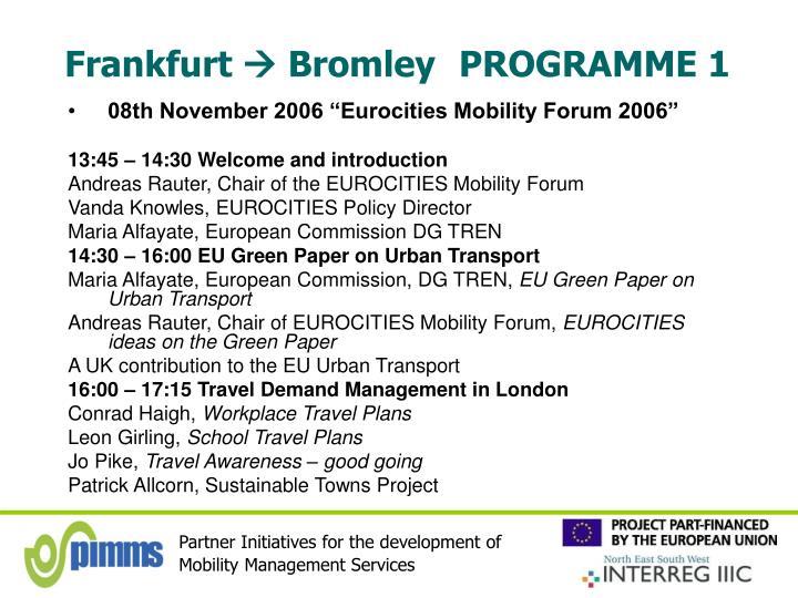 Frankfurt bromley programme 1