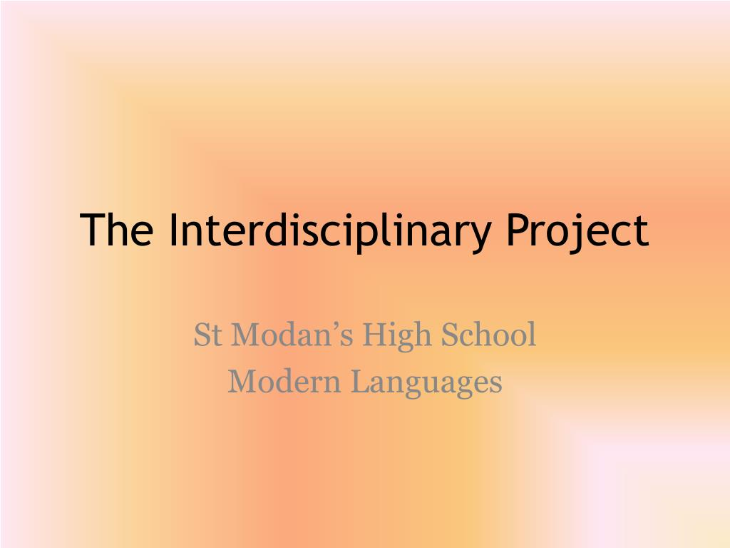 the interdisciplinary project l.