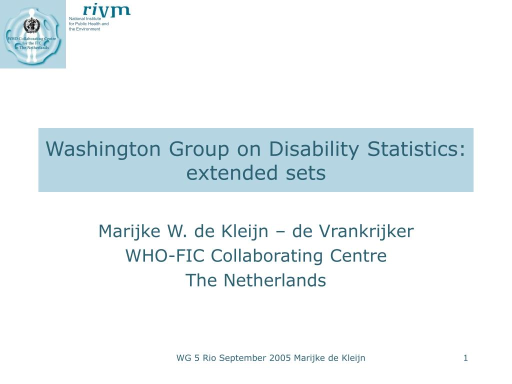 washington group on disability statistics extended sets l.