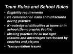 team rules and school rules