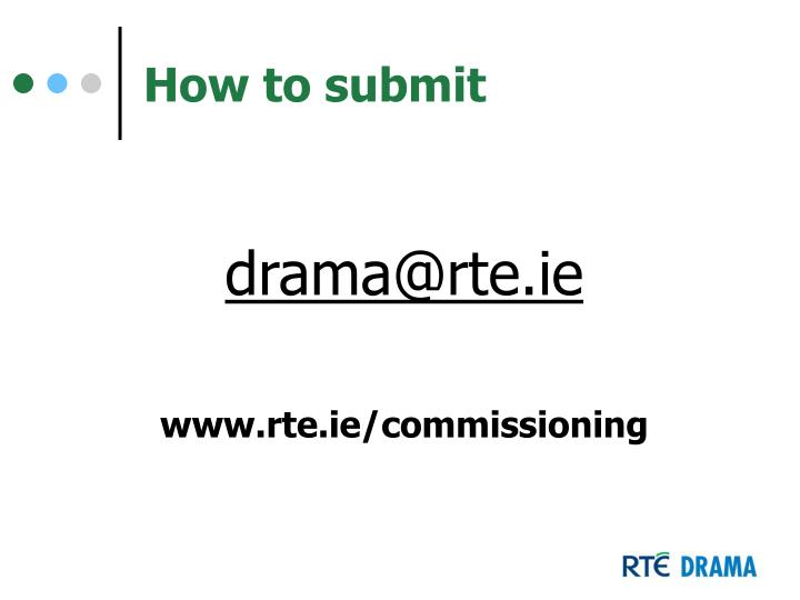 How to submit