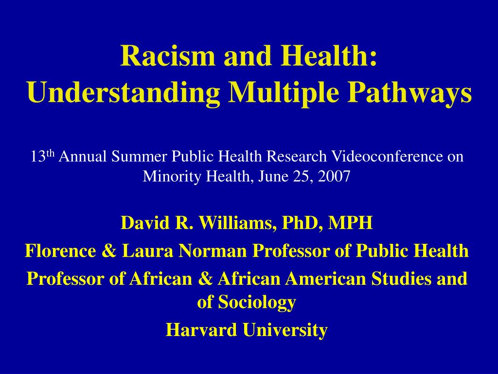 racism and research Racism and research: the case of the tuskegee syphilis study authors allan m brandt doctoral candidate search for more papers.