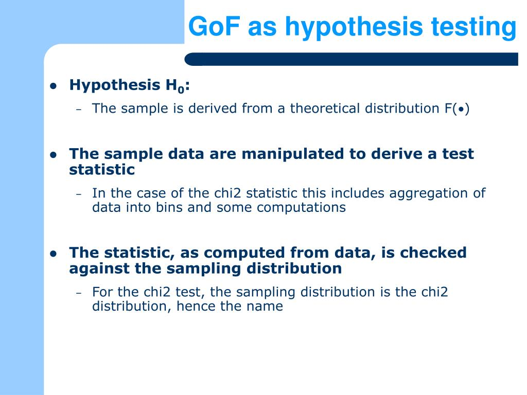 GoF as hypothesis testing
