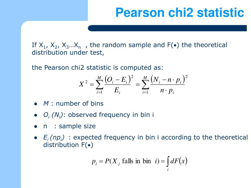 Pearson chi2 statistic