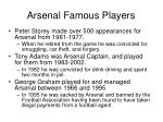 arsenal famous players