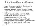 tottenham famous players