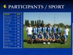participants sport