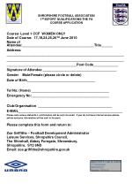 shropshire football association 1 st 4sport qualifications the fa course application