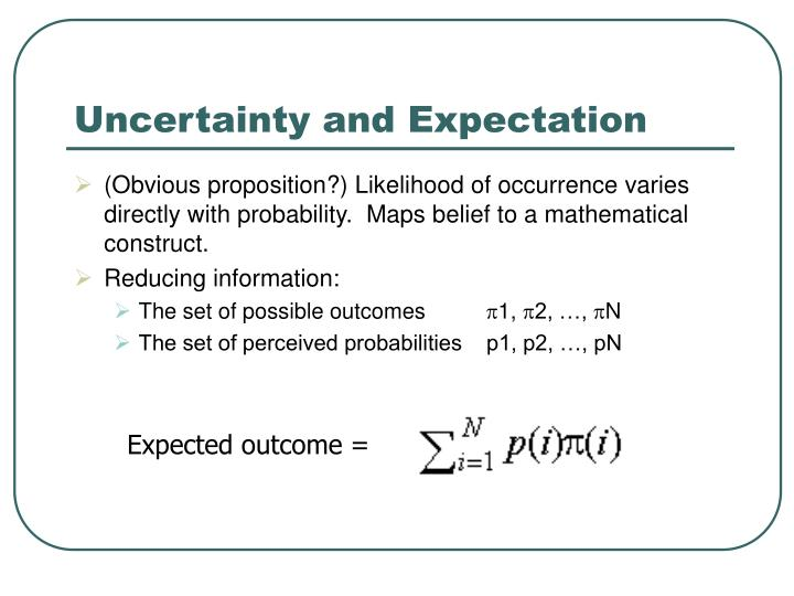 Uncertainty and Expectation
