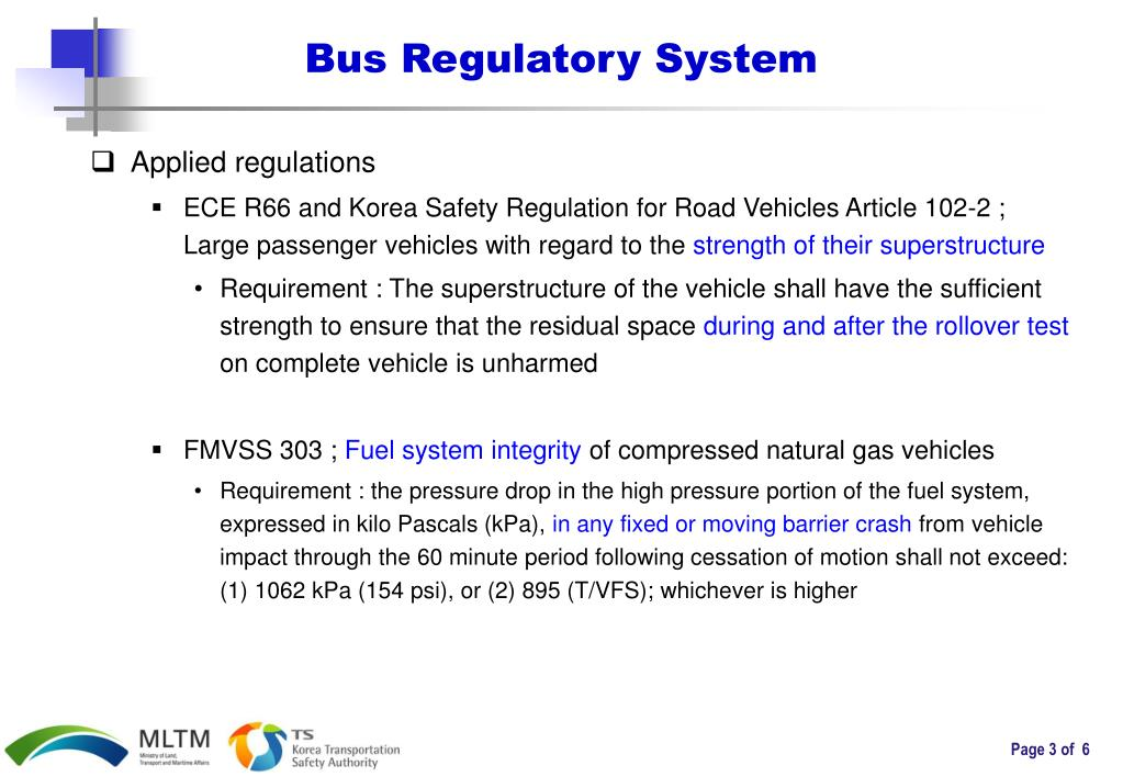 Bus Regulatory System