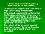 a competitive automotive regulatory framework for the 21st century 1