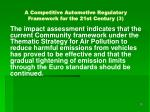 a competitive automotive regulatory framework for the 21st century 3
