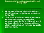 environmental protection sustainable road transport 1