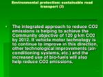 environmental protection sustainable road transport 2