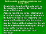 environmental protection sustainable road transport 3